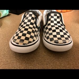 Vans Shoes - Classic checkerboard slip ons
